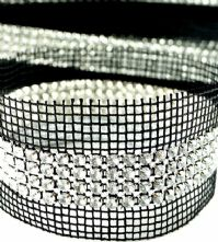 Crystal 4 Row Rhinestone Sew-in Trim